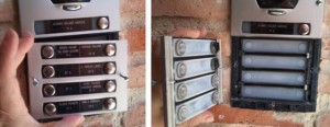 Placa Serie 7 instalada con «tornillos»