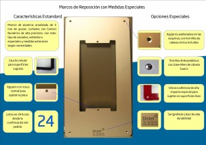 Marcos de Reposición de aluminio con «medidas especiales»