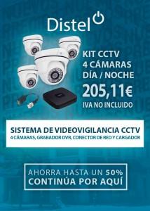 KIT CCTV 4 cámaras con grabador