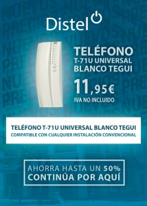 Teléfono T-71 U universal blanco Tegui