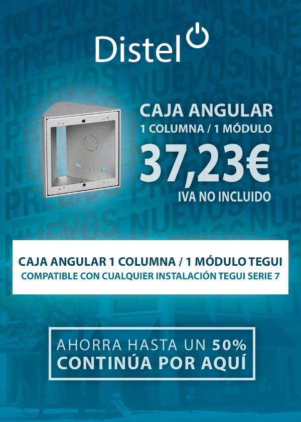 Caja angular 1 columna / 1 módulo Tegui