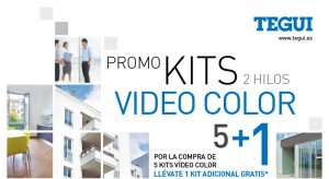 Compra 5 kits de videoporteros Tegui y llévate el sexto gratis