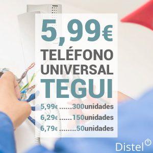 Teléfono Universal Tegui desde 5,99 euros la unidad