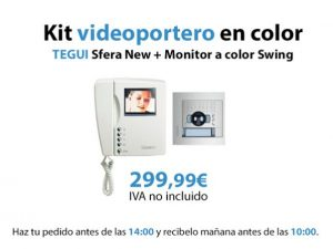 kit videoportero en color tegui oferta