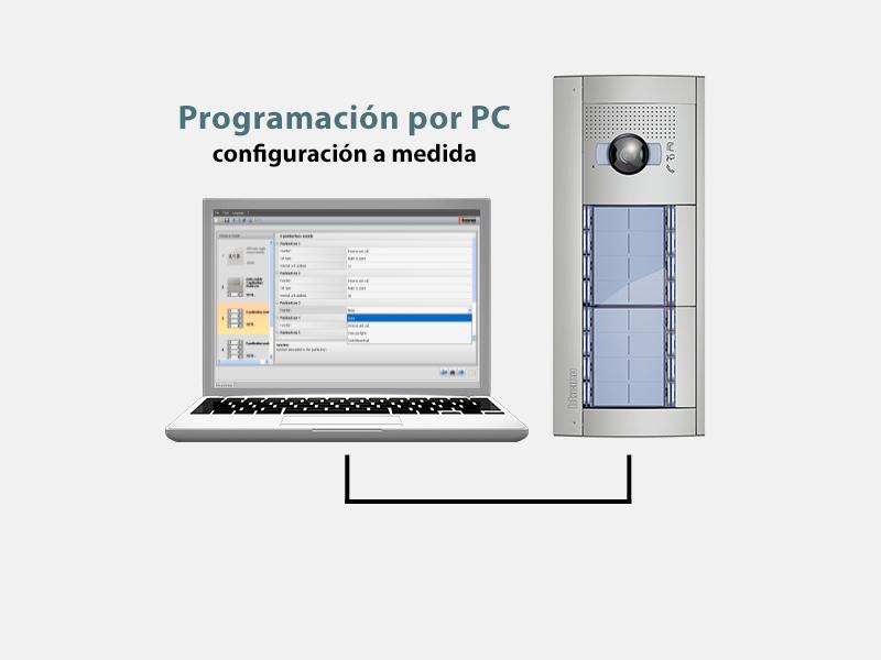Programación por PC del videoportero
