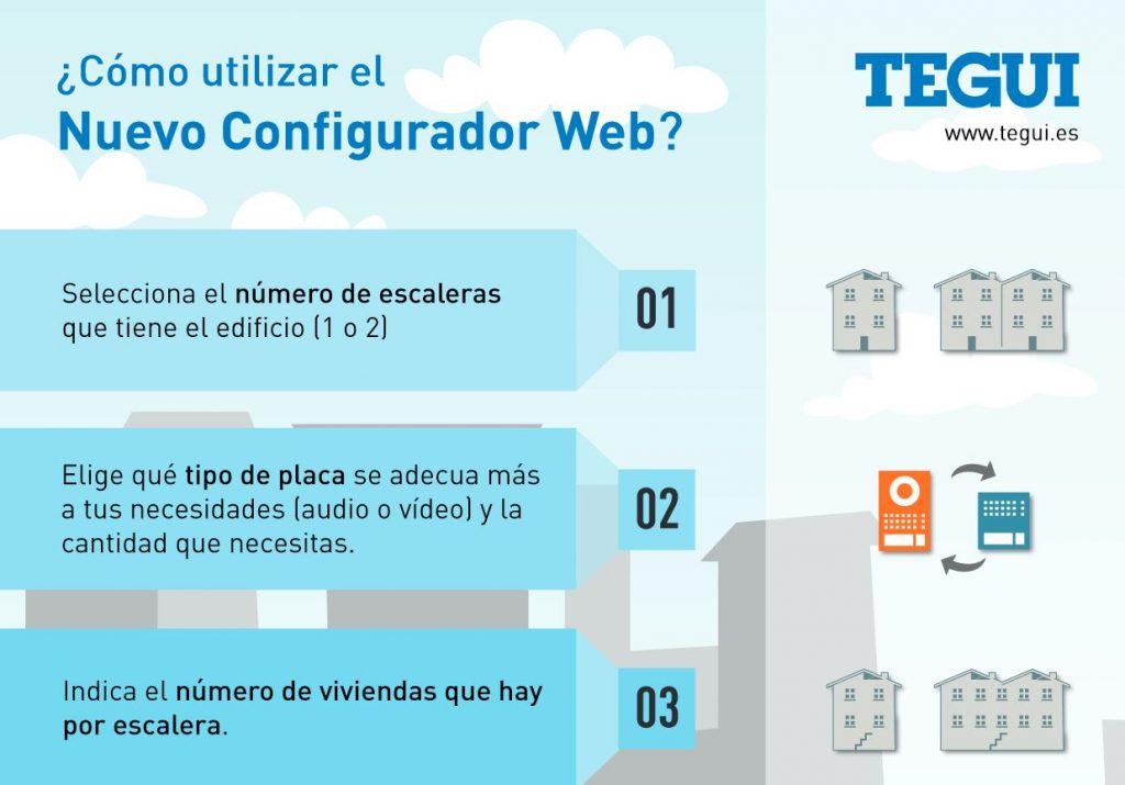 Configurador web de videoporteros y porteros tegui - Precio de videoporteros ...
